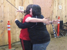 Seanna and Marci celebrating Chance's MJDC