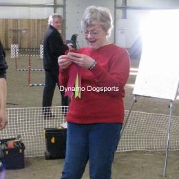 Jill Furminger with Maize's ribbon